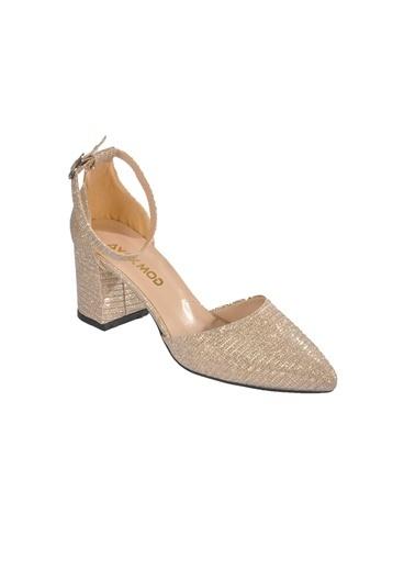 Maje 1903 Ten Kadın Topuklu Ayakkabı Altın